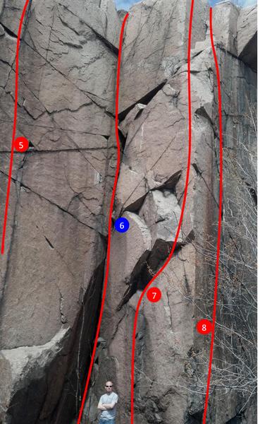 Rock Climbing Photo: Echo Crag left