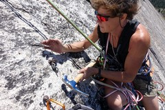 """Rock Climbing Photo: Removing old 1/4"""" bolt"""