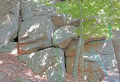 Rock Climbing Photo: Army Rampart right side E. Taste of Yosemite G. ...