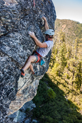 Rock Climbing Photo: Go right at the second roof, straight up from the ...