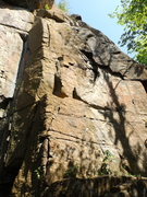 Rock Climbing Photo: Looking up, CC is on far left near corner. Front o...