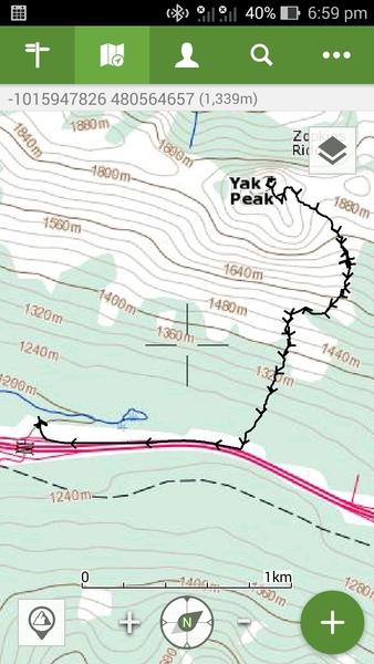 Rock Climbing Photo: Descent route, north side, Yak Peak