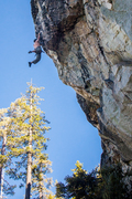 Rock Climbing Photo: Big moves once the pump has already begun, best to...