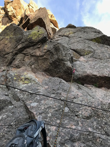 Rock Climbing Photo: The start of the pitch. Tricky pro placement right...