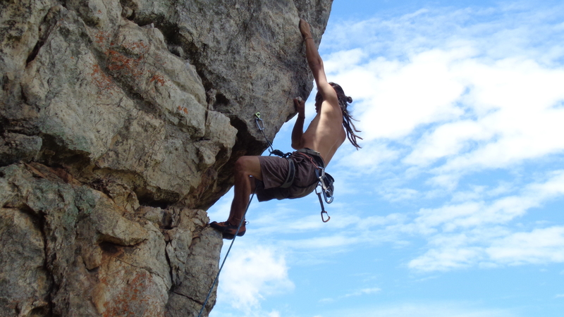 Climbing in amazing Serra da Bocaina, MG, Brazil
