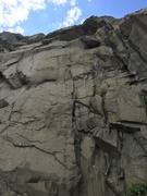Rock Climbing Photo: Varied climbing up through broken crack systems pr...