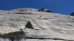 Rock Climbing Photo: Climber to the right of the tree is going up Moonl...