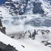 Liberty ridge from lower Curtis ridge. also an avalanche.