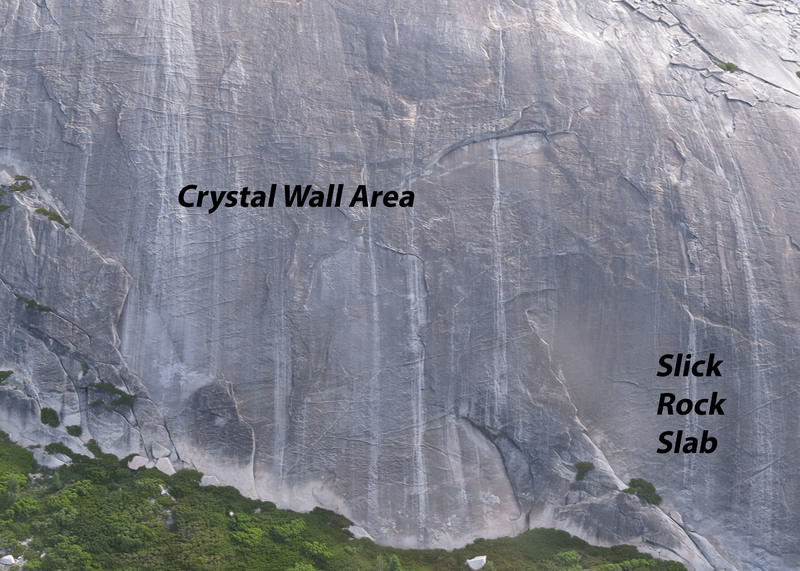Crystal Wall and Slick Rock Slabs areas
