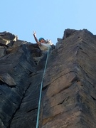 Rock Climbing Photo: Stems n Jammies, finally, to the top! Trad lead do...