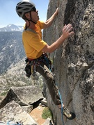 Rock Climbing Photo: Climbing on the 3rd pitch. Many routes exist so yo...