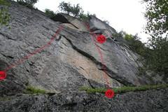 Rock Climbing Photo: 18. 4 Fantastiques (5.11d)  19. X-Men (5.11c) P...