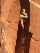 Rock Climbing Photo: Creek chimney.