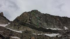 Rock Climbing Photo: Topo for the Original Route.