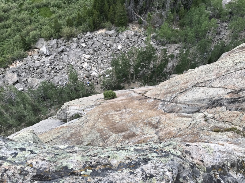 The route from the top of pitch 2