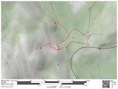 Map of area showing Guntower, Cal Trans, and Multipitch