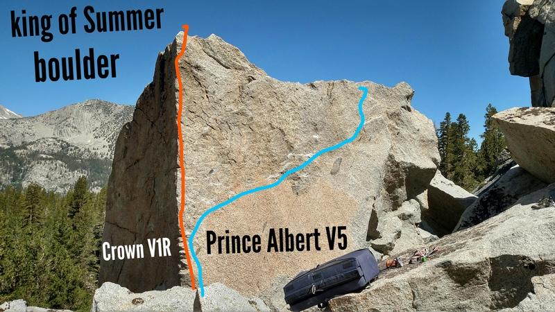 Rock Climbing Photo: Prince Albert traverses right
