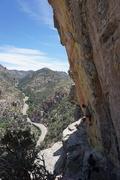 Rock Climbing Photo: Jon at the low crux.