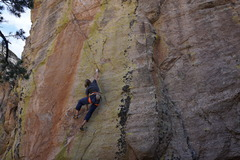 Rock Climbing Photo: Crazy crux move - your chiropractor does not appro...