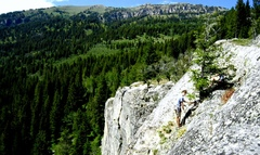 Rock Climbing Photo: Aaron Turley belays from the top of Thimbleberry.
