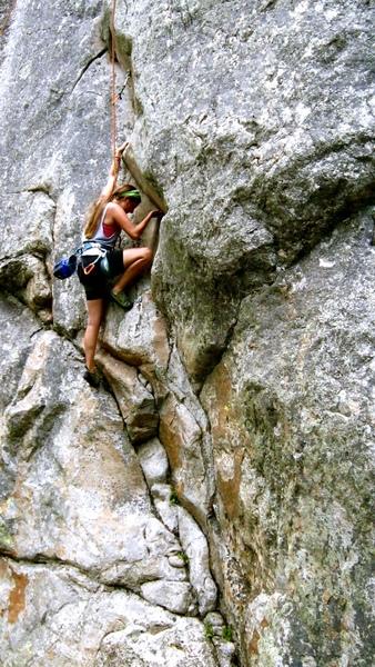 Rock Climbing Photo: Erica Rascon in the business of SOS.