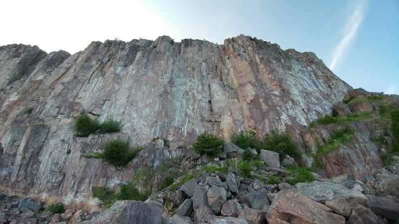 Rock Climbing Photo: Tackling the offwidth section. PC: Matt Grotenhui...