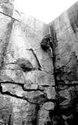 Rock Climbing Photo: A quarry classic, the crux feels a bit airy but th...