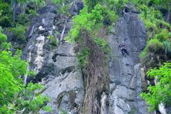Rock Climbing Photo: leading the 2nd pitch of Ooh La La