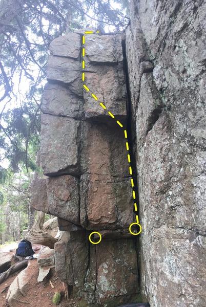 Rock Climbing Photo: Telegraph face on Charlotte's Corner