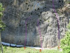 Rock Climbing Photo: 1) Swallowtail's Delight 2) Captain's Table 3) C...