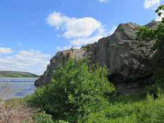 Rock Climbing Photo: The more secluded area near the water.