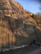 Rock Climbing Photo: It's easy to climb until it gets dark here :)