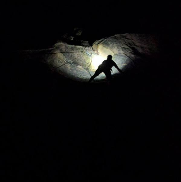 Rock Climbing Photo: Buddy Luke sending in the dark!!!