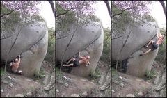 Starting sequence.  I posted a video but the lighting is not wonderful.  This is a great crack to practice a hard size.