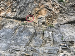 Rock Climbing Photo: Start of the diagonal cut across lower gulley. Fir...