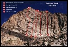 Rock Climbing Photo: Beehive Peak, SE Face