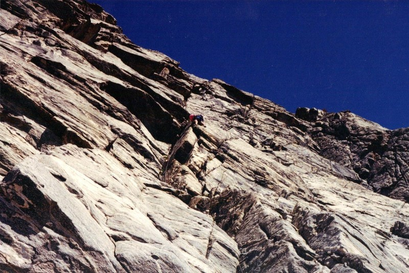 Pitch 1 of Rastaman Route<br> Summer 1992