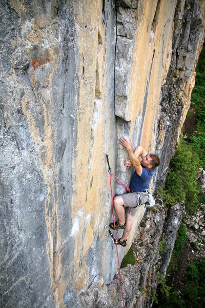 Rock Climbing Photo: Ryan Marsters at the crux on Uckfay Ushbay.