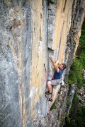 Rock Climbing Photo: Ryan Marsters at the crux on Uckfay Ushbay.