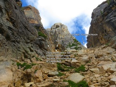 Rock Climbing Photo: Accessing NW Face of Liberty Bell from Liberty Bel...