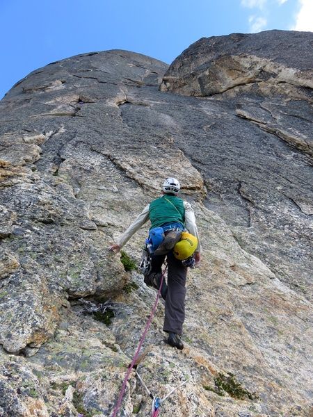 Rock Climbing Photo: About to start the Remsberg Variation.