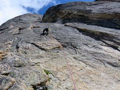 Rock Climbing Photo: Climbing the Remsberg Variation for the NW Face. &...