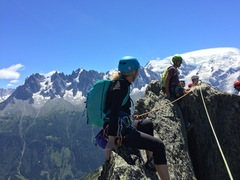 Rock Climbing Photo: Sitting on the summit with our guide Jon Bracey wa...