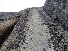 Rock Climbing Photo: Pitch 3. Take the cracks on the left. This is the ...