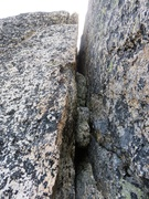 Rock Climbing Photo: Pitch 4 offwidth. You can protect this with small ...