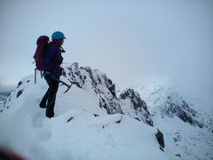 Rock Climbing Photo: Approaching Crib Goch, Snowdon Winter ridge scram...