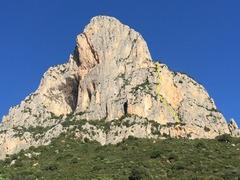 Punta Giradili from approach trail.