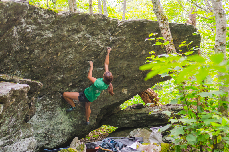 Ain't nothing stanky on this minty fresh problem! Good holds all the way through the top out and one of the first boulders you'll come to in the Back of Beyond!