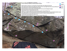 Rock Climbing Photo: Don't read if you don't want beta. This is my atte...