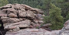Rock Climbing Photo: This is looking down from one of the second flat i...